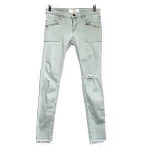 HOLLISTER • Olive Super Skinny Raw Hem Pants